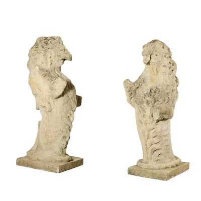 Pair of Stone of Vicenza Lions Italy 19th Century