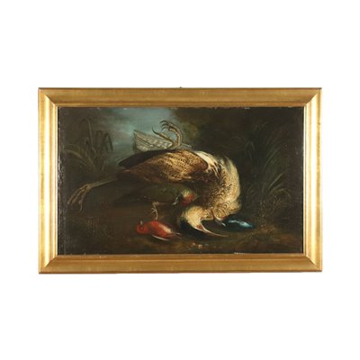Still Life With Wild Game Oil On Canvas 18th Century