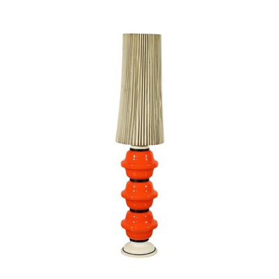 Lamp Coloured Glass Paper Italy 1960s 1970s