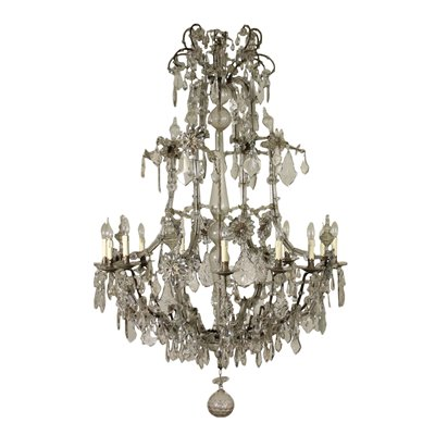 Chandelier Maria Theresa Iron Bronze Glass Italy Late 18th Century