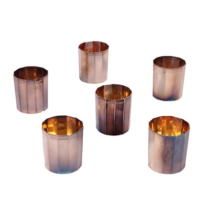 Silver Glasses by Dabbene Manufacture Milan 20th Century