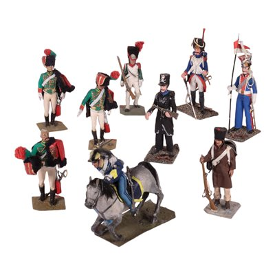 Group of Tin Soldiers With Case Lead Europe 20th Century