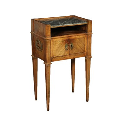 Neo-Classical Ligurian Bedside Table Marble Pine Marple Italy 18th Cen