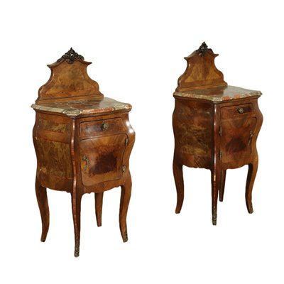 Pair of Barocchetto Revival Bedside Tables Italy 20th Century