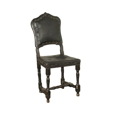 Coil Chair Walnut Leather Italy 18th Century