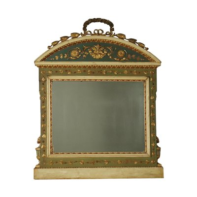 Neo Classical Revival Lombard Fireplace Mirror Italy 19th Century