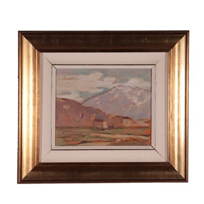 Landscapes By Raul Viviani Oil On Cardboard 20th Century
