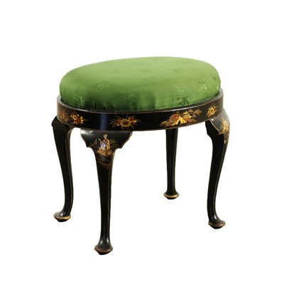 English Stool In The Style Of Chinoiserie England 19th Century