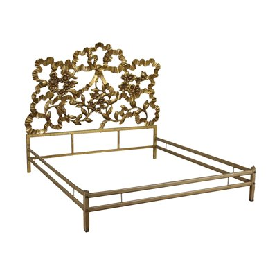 Double Bed Brass Metal Italy 1950s