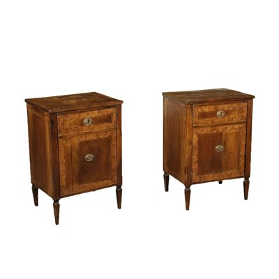Pair of Neo-Classical Lombard Bedside Table Italy 18th Century