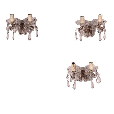 Group of 3 Wall Lights In The Style Of Maria Theresa 20th Century