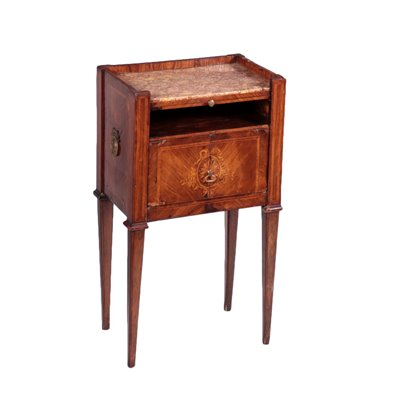 Neo-Classical Piedmontese Open Bedside Table Italy 18th Century