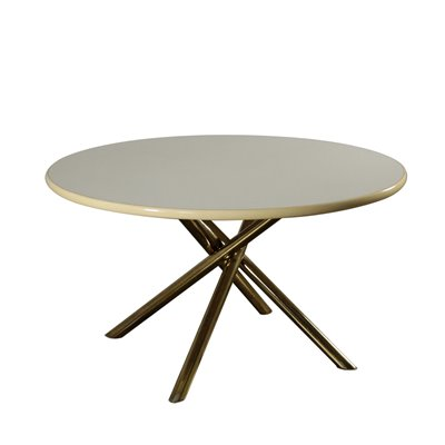 Vintage Lacquered Wood Table by Carlo Bartoli 1980's