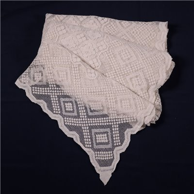 Filet Tablecloth Cotton Italy 20th Century