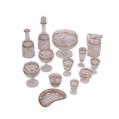 Set Of Glasses Crystal Europe 20th Century