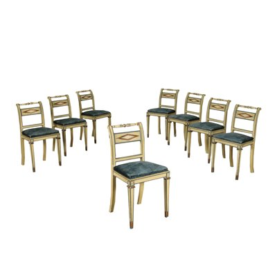 Group of 8 Revival Chairs Italy 20th Century