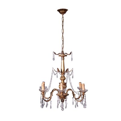 Chandelier Glass Shear Plate Italy 20th Century