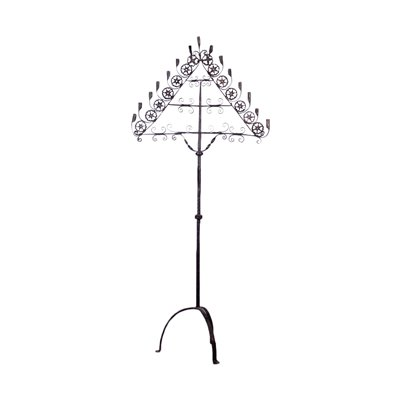 Wrought Iron Candle Holder Italy 19th Century