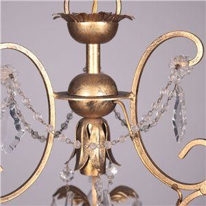 Chandelier Glass Metal Shear Plate Italy 20th Century