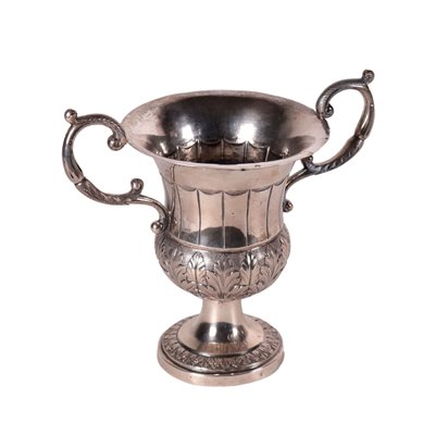 Silver Cup Vase Florence Italy 1940s
