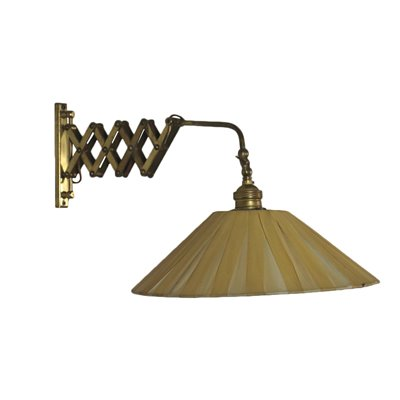 Extension Lamp Brass Fabric Italy 1950s