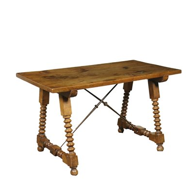 Spanish Table Made With Ancient Woods Walnut Sapin 20th Century