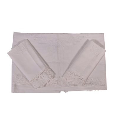 Double Bed Sheet With 2 Pillowcases Flax Italy