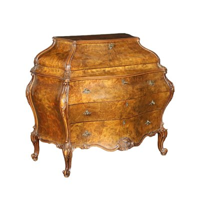 Barocchetto Revival Urn Shaped Drop-Leaf Secretaire Italy 20th Century