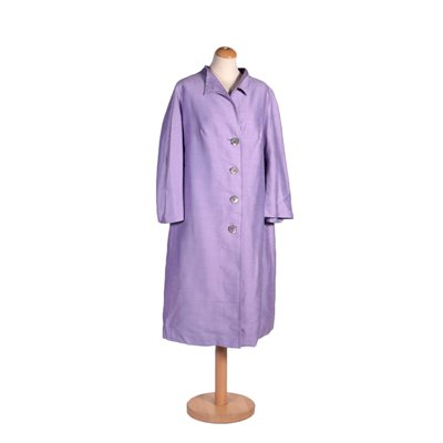Vintage Lilac Overcoat Italy 1950s-1960s