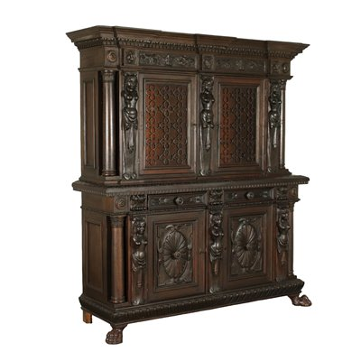 Neo Renaissance Two Bodies Cupboard Italy 20th Century