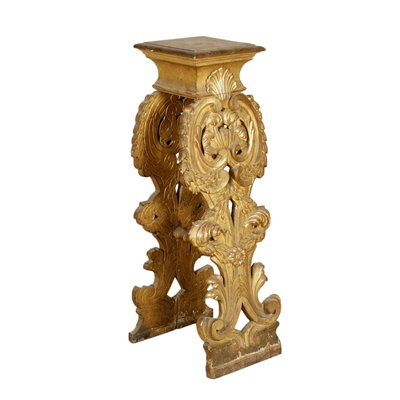 Gilded Vase Stand Manufactured in Italy Early 1700s