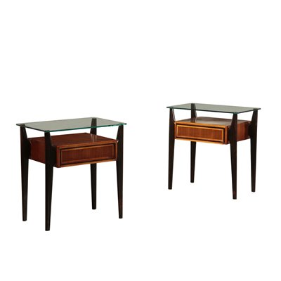 Vitage Bedside Tables Italy 1950's