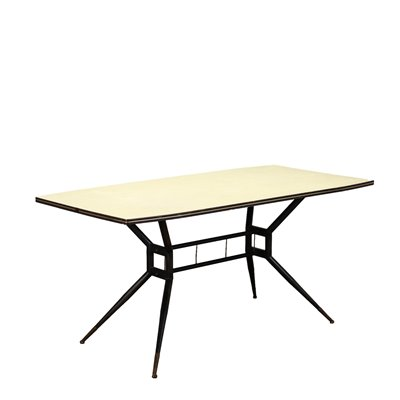 Table Formica Metal Glass Italy 1950s 1960s