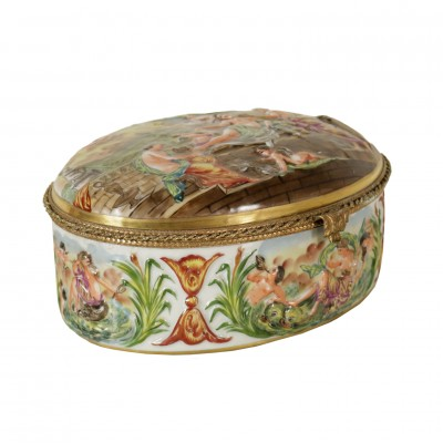 Capodimonte Jewel Case Antiques Art Objects