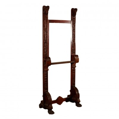 Carved Easel for Paintings Antiques Other Furniture