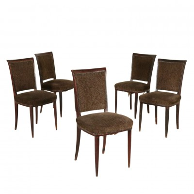 Set of Five Chairs Vintage Modernism Chairs