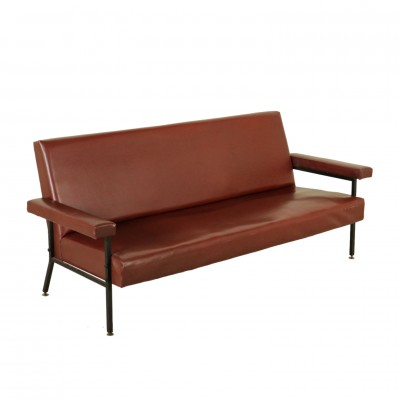 Sofa Leatherette Vintage Manufactured in Italy 1960s Vintage Modernism Sofas