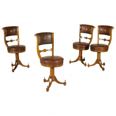 Group of four Music Chairs Vintage Italy Antiques Chairs