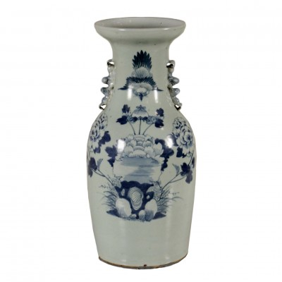 Vase Blue Decorations Made in China First Half of 1900s Antiques Vases