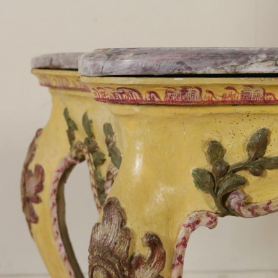 Console Table Rose-colored Marble Top Italy Mid 1700s Antiques Consoles