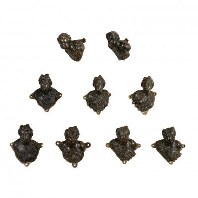 Set of Bronze Handles Manufactured in Italy 17th Century Antiques Antique Italian Fancy Goods