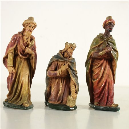 Set of 8 Nativity Statues Gypsum Italy First Half of 1900s Antiques Objects